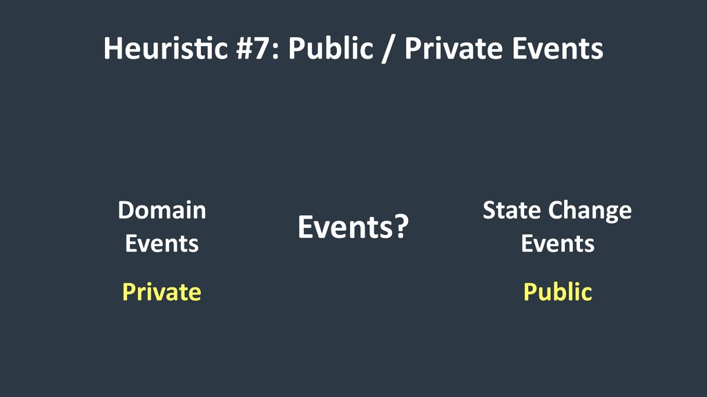 HeurisCc #7: Public / Private Events Events? Do...
