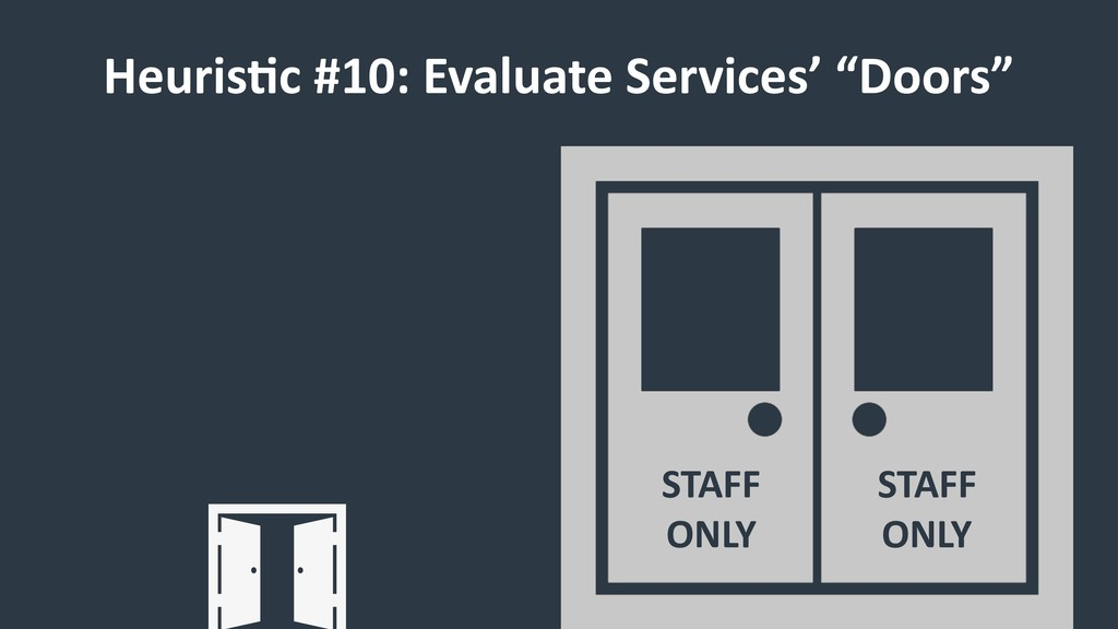 "HeurisCc #10: Evaluate Services' ""Doors"" STAFF ..."