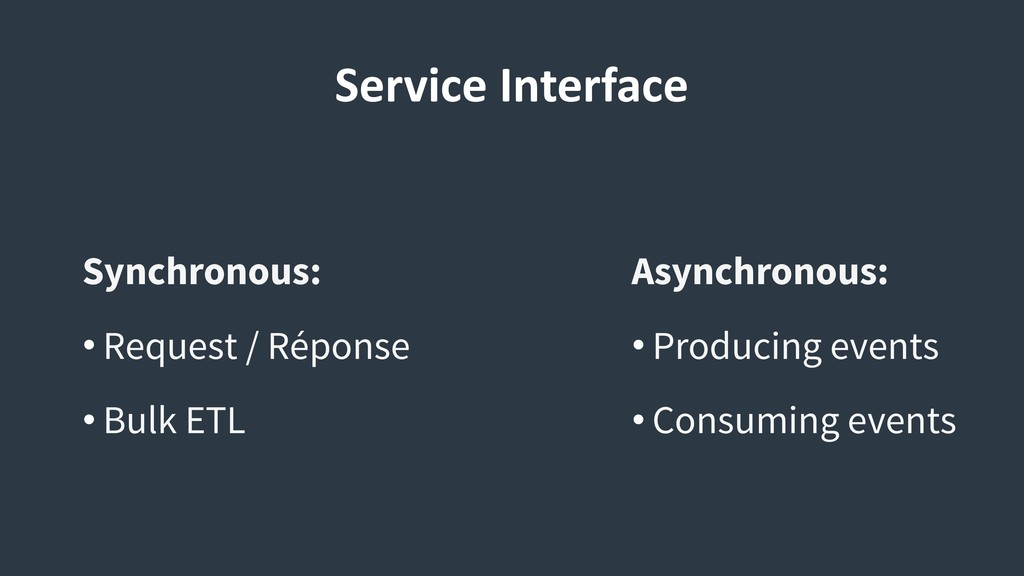 Service Interface Asynchronous: • Producing eve...