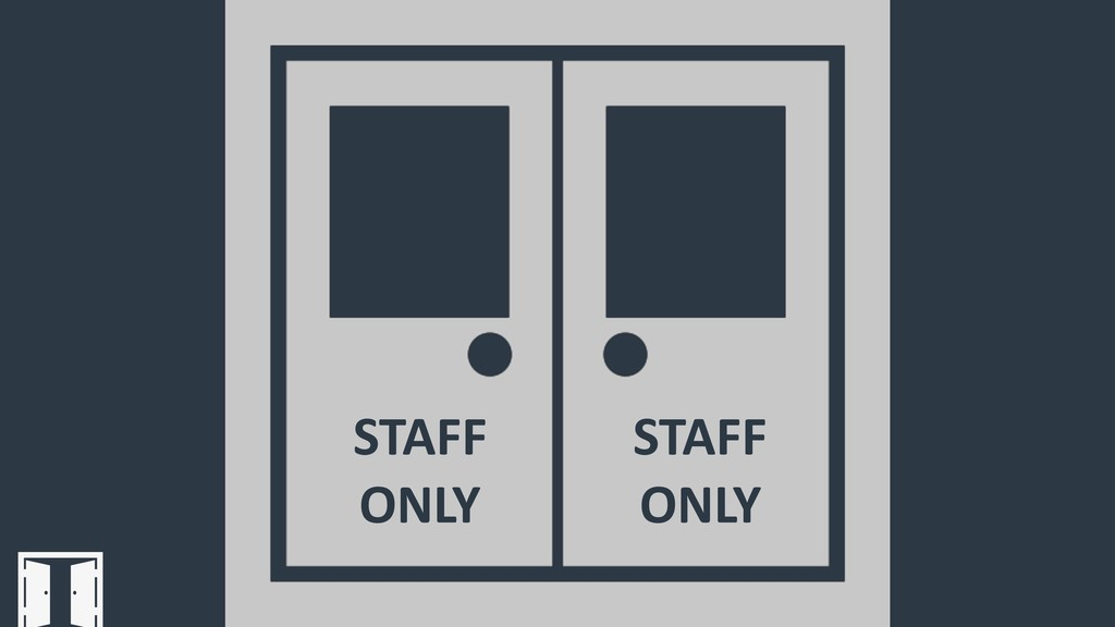 STAFF ONLY STAFF ONLY