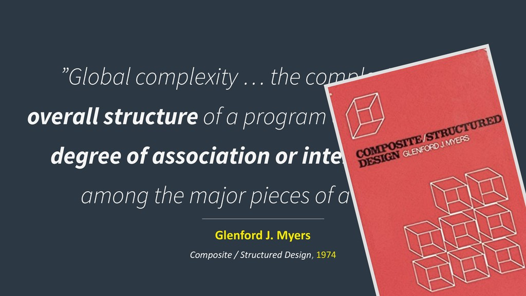 """Global complexity … the complexity of the over..."