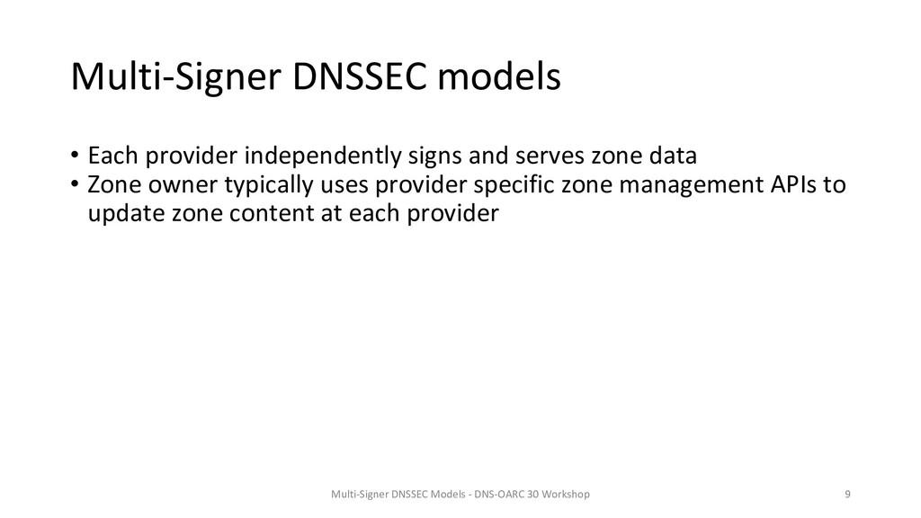 Multi-Signer DNSSEC models • Each provider inde...