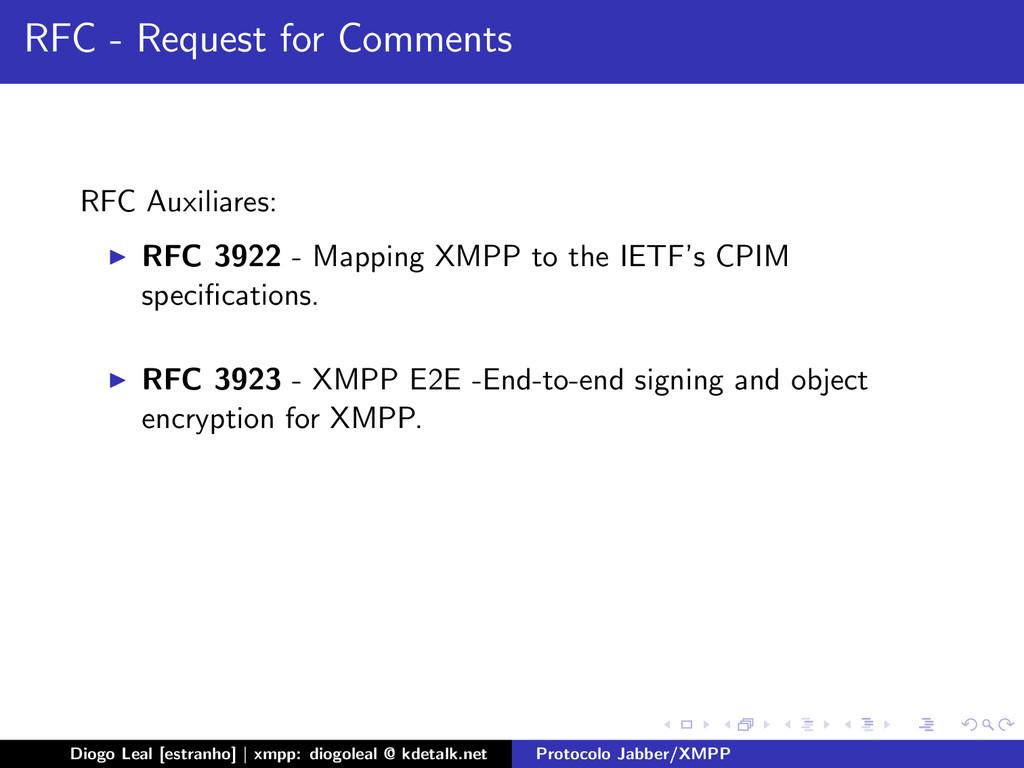 RFC - Request for Comments RFC Auxiliares: RFC ...