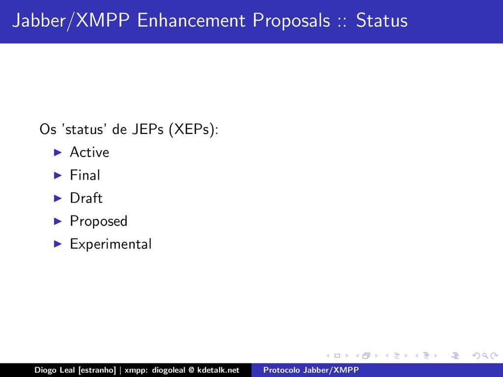 Jabber/XMPP Enhancement Proposals :: Status Os ...
