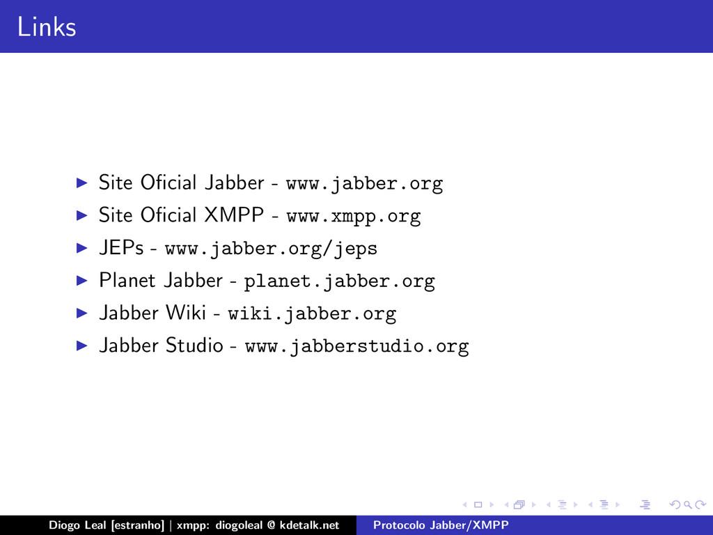Links Site Oficial Jabber - www.jabber.org Site ...