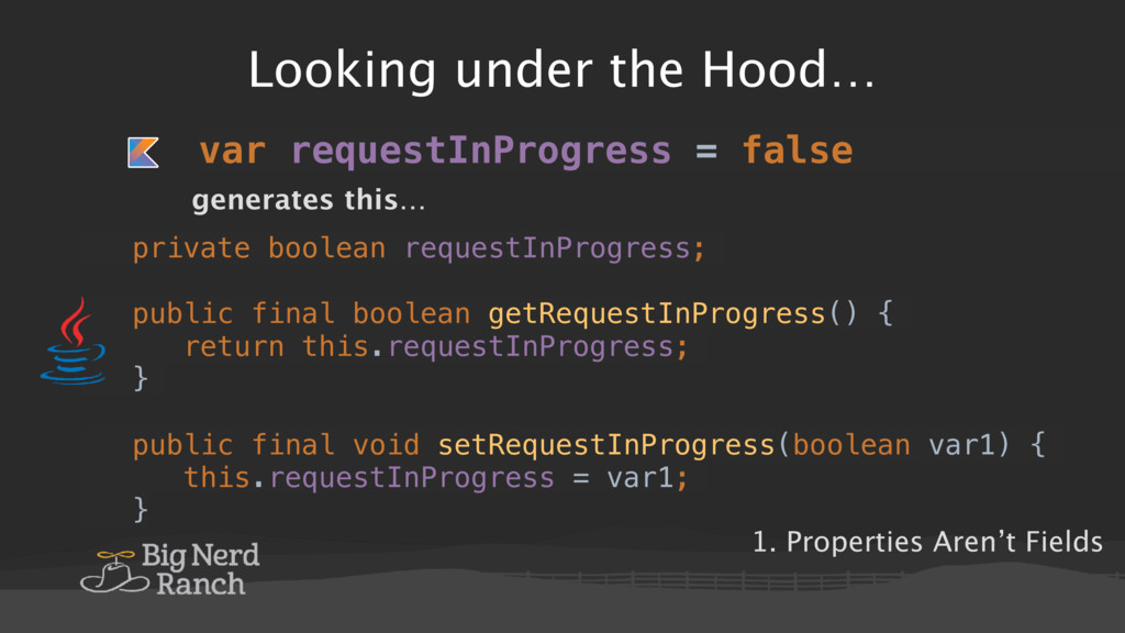 Looking under the Hood… private boolean request...