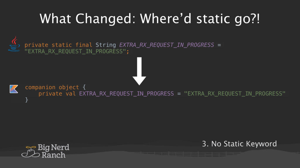 What Changed: Where'd static go?! private stati...
