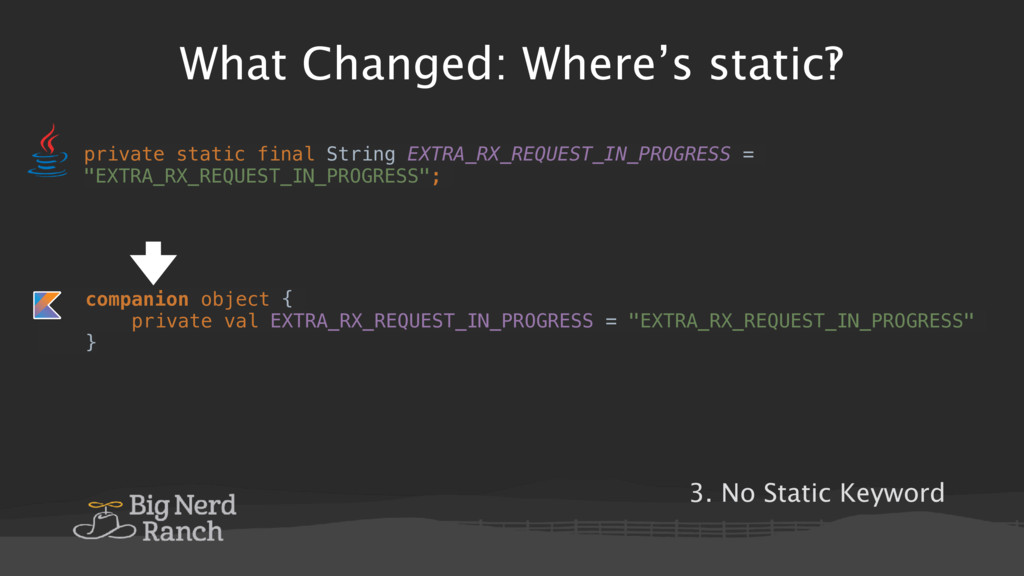What Changed: Where's static‽ private static fi...