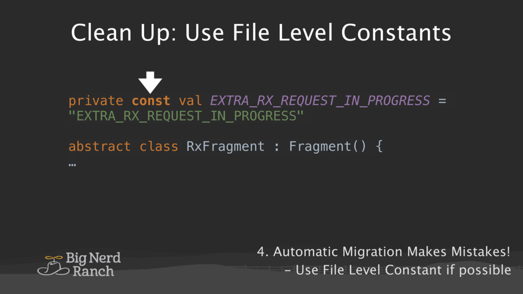Clean Up: Use File Level Constants private cons...