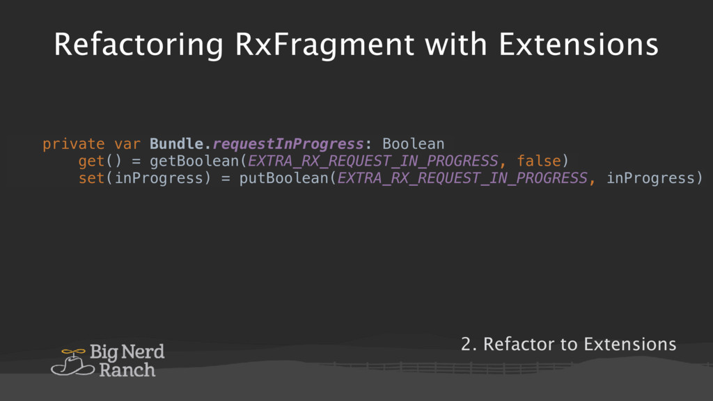Refactoring RxFragment with Extensions private ...