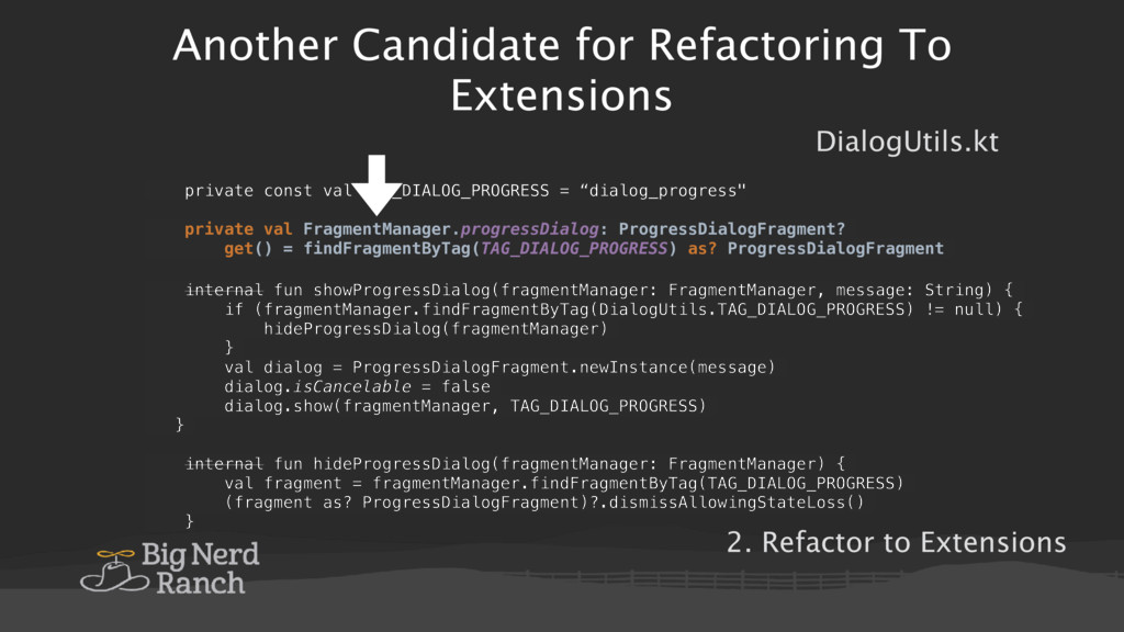 Another Candidate for Refactoring To Extensions...
