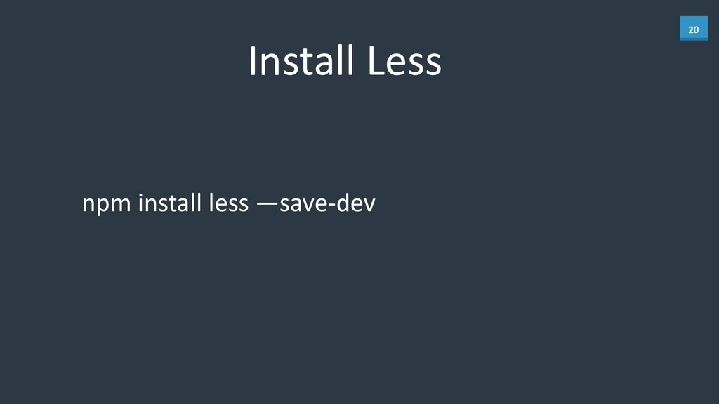 20 Install	
