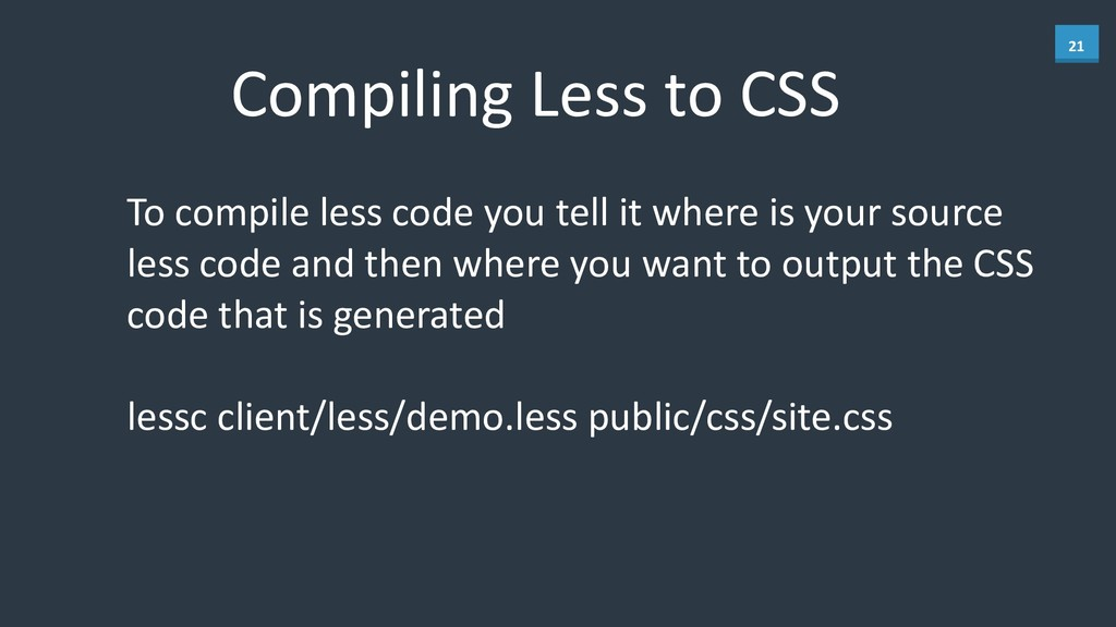 21 Compiling	