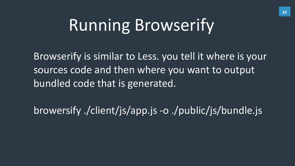 24 Running	
