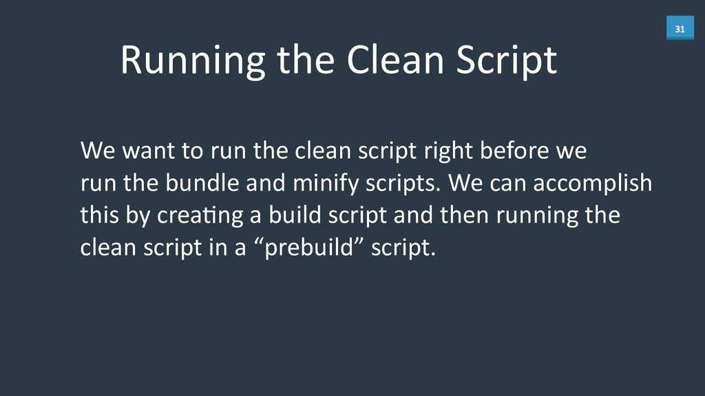 31 Running	