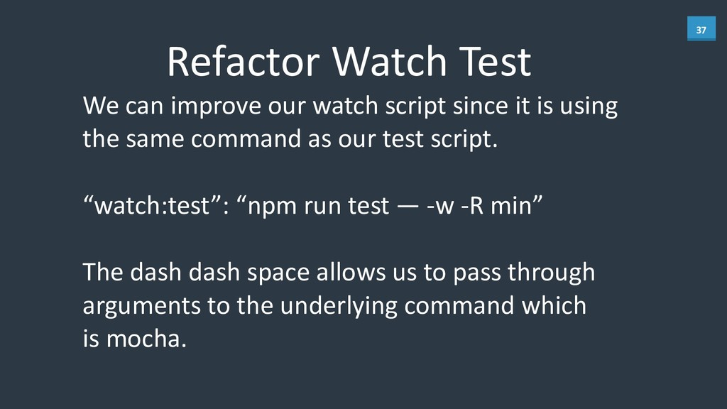 37 Refactor	