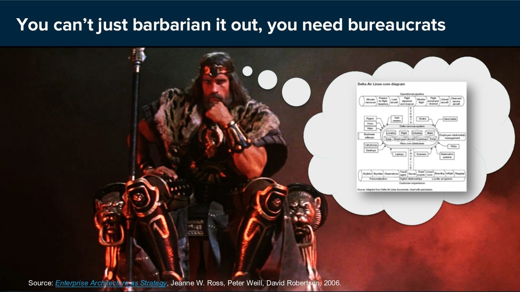 You can't just barbarian it out, you need burea...