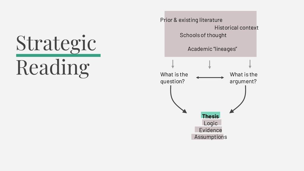 Thesis Logic Evidence Assumptions Strategic Rea...