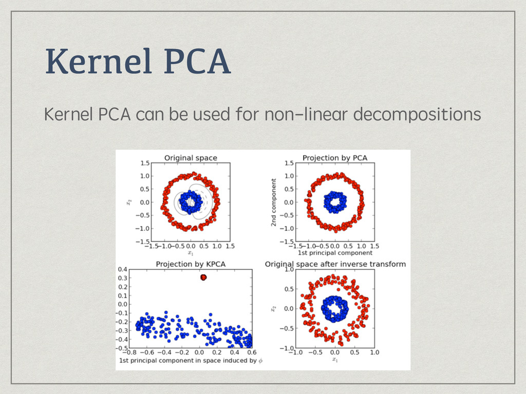Kernel PCA Kernel PCA can be used for non-linea...