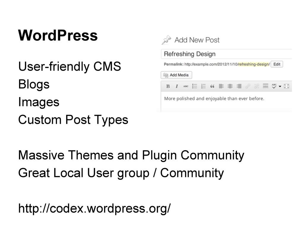 WordPress User-friendly CMS Blogs Images Custom...