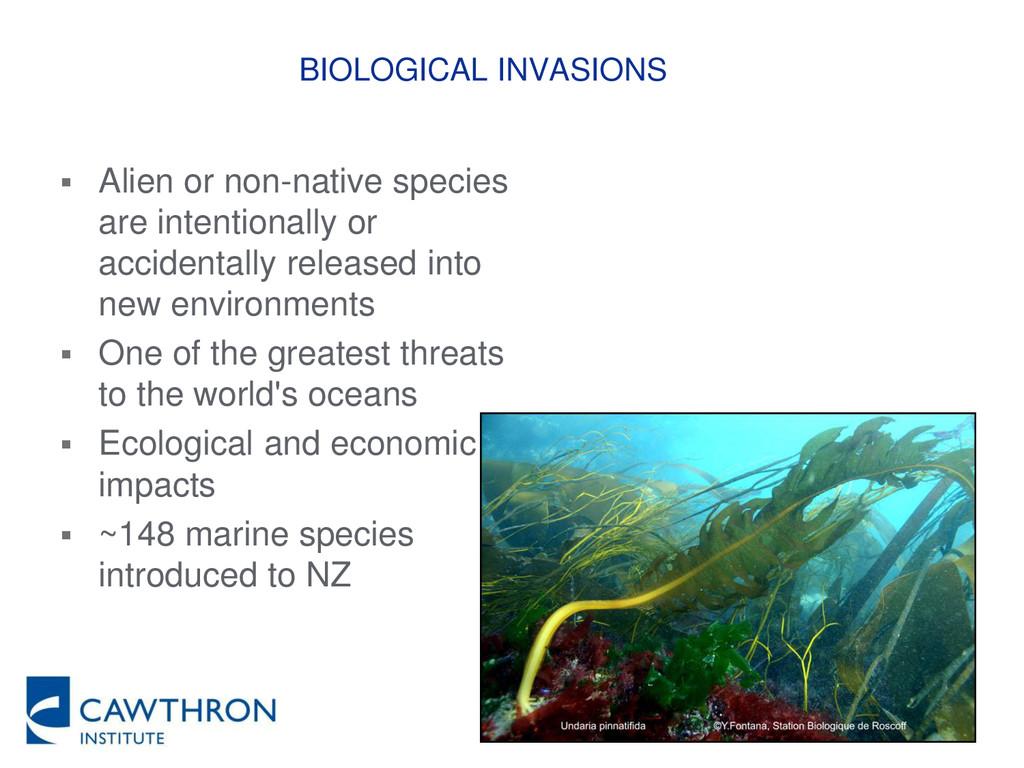BIOLOGICAL INVASIONS  Alien or non-native spec...