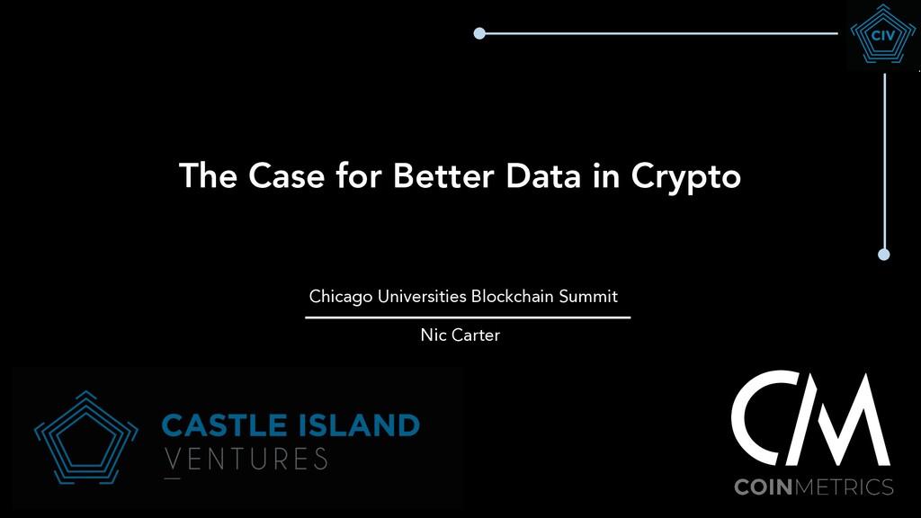The Case for Better Data in Crypto Chicago Univ...