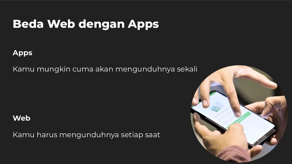 Beda Web dengan Apps Apps Kamu mungkin cuma aka...