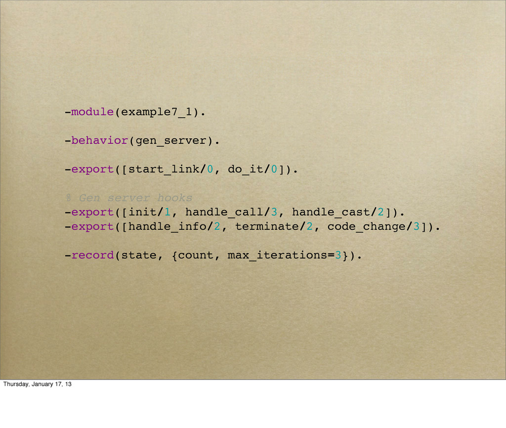 -module(example7_1). -behavior(gen_server). -ex...