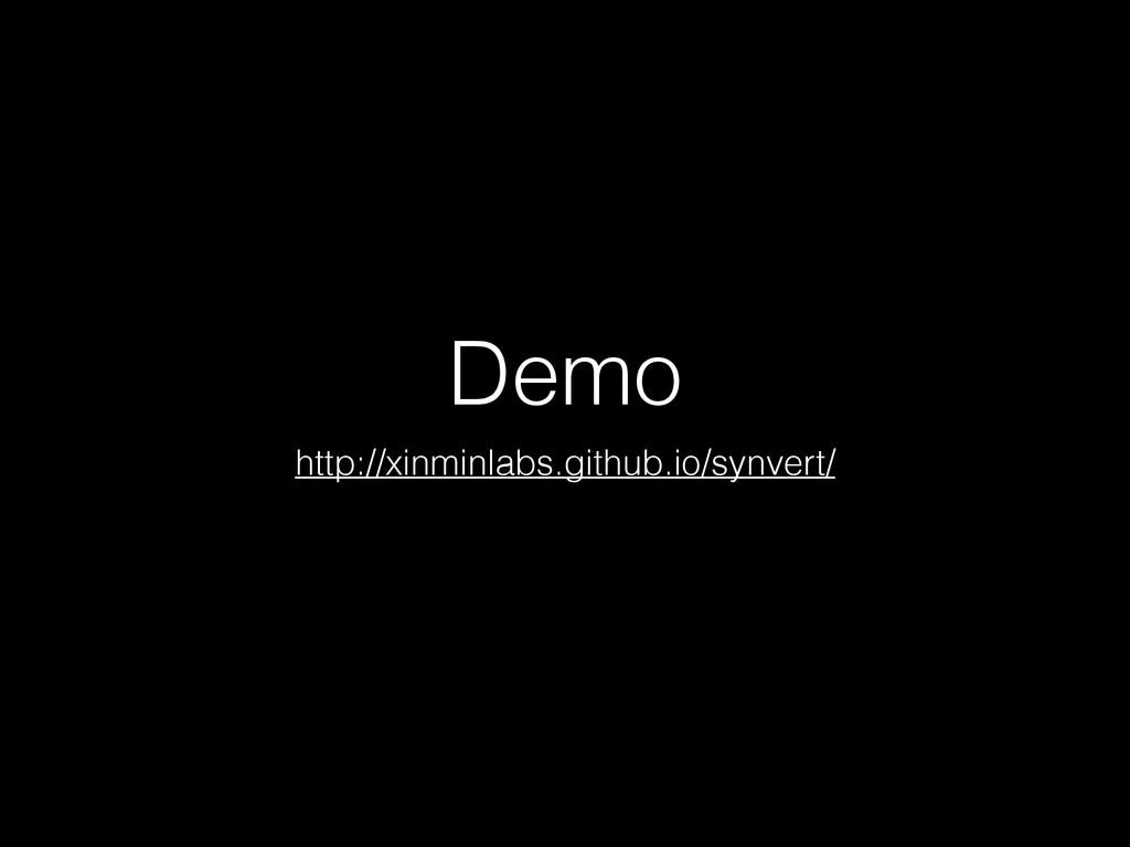 Demo http://xinminlabs.github.io/synvert/