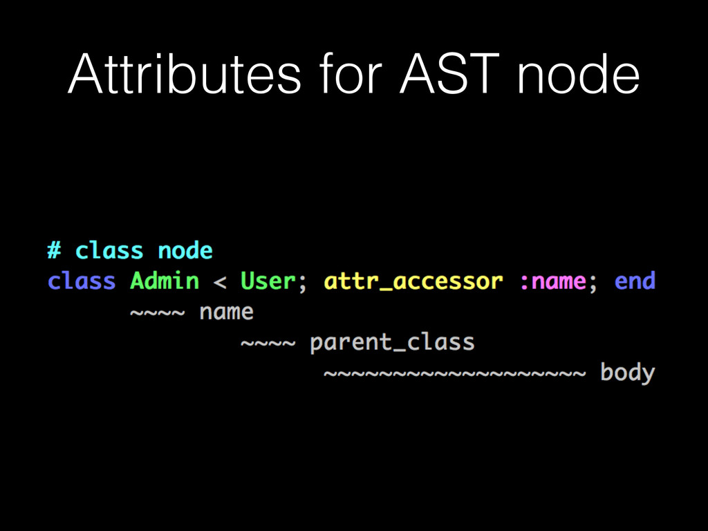 Attributes for AST node