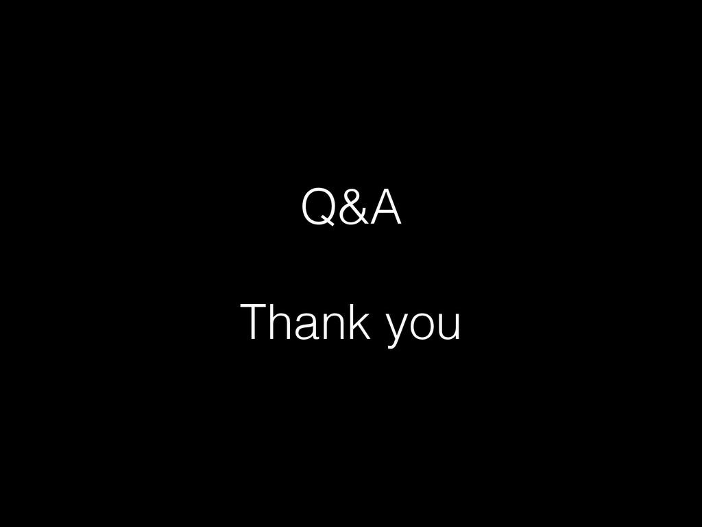 Q&A ! Thank you