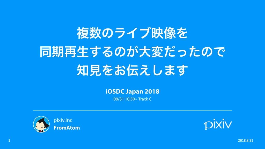 ෳͷϥΠϒө૾Λ ಉظ࠶ੜ͢Δͷ͕େมͩͬͨͷͰ ݟΛ͓͑͠·͢ iOSDC Japan...