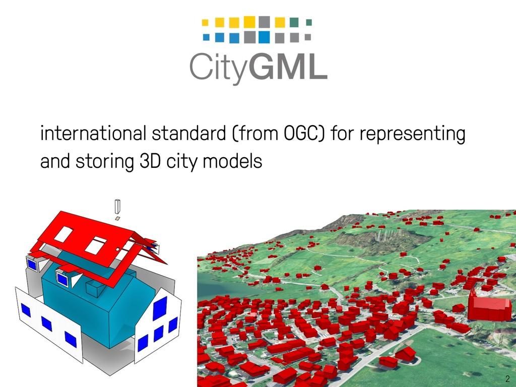 2 international standard (from OGC) for represe...