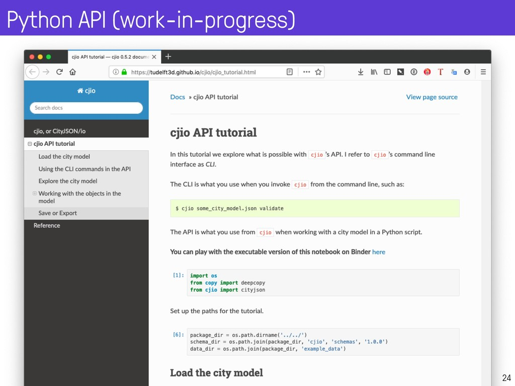 Python API (work-in-progress) 24