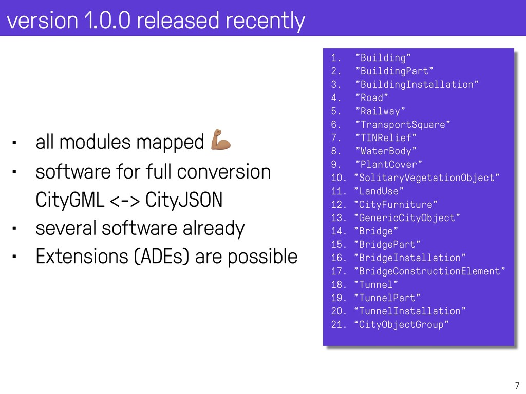 """version 1.0.0 released recently 7 1. """"Building""""..."""