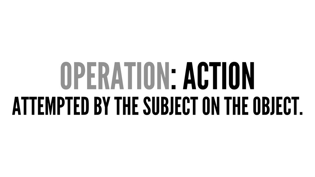 OPERATION: ACTION ATTEMPTED BY THE SUBJECT ON T...