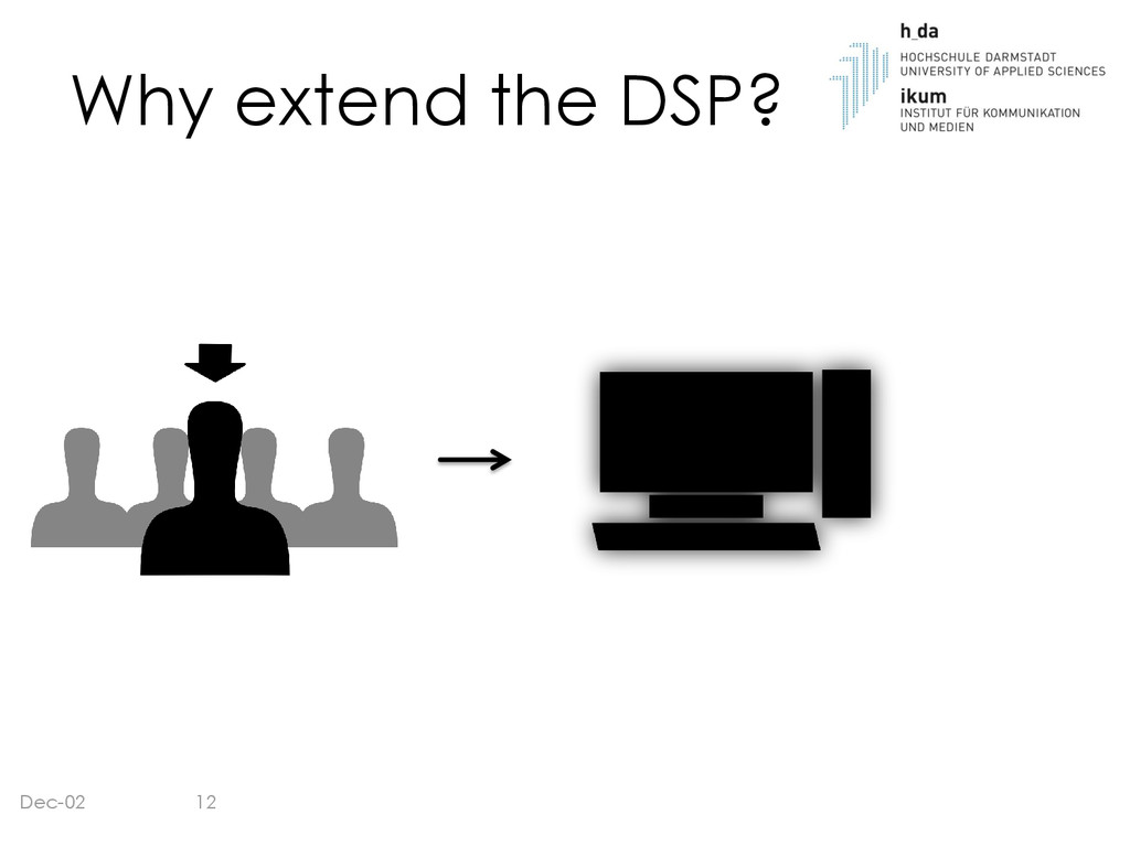 Why extend the DSP? Dec-02 12