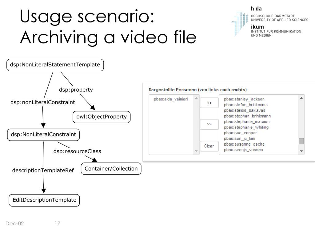Usage scenario: Archiving a video file Dec-02 17