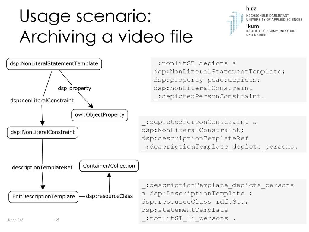 Usage scenario: Archiving a video file Dec-02 1...