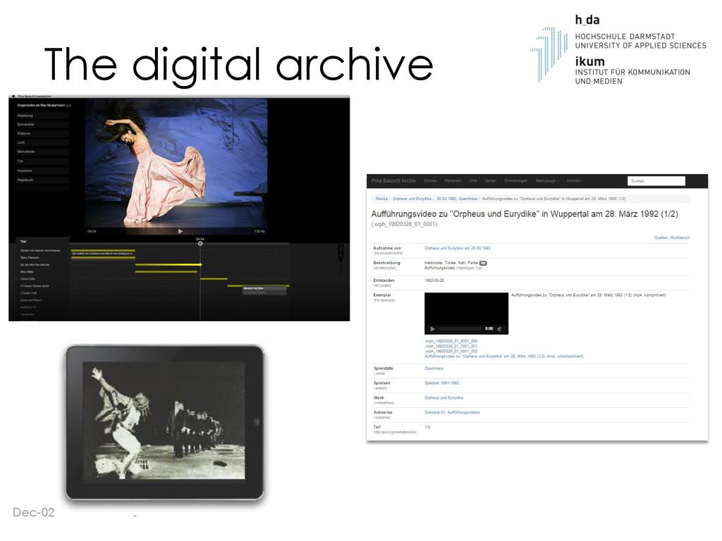 The digital archive Dec-02 3