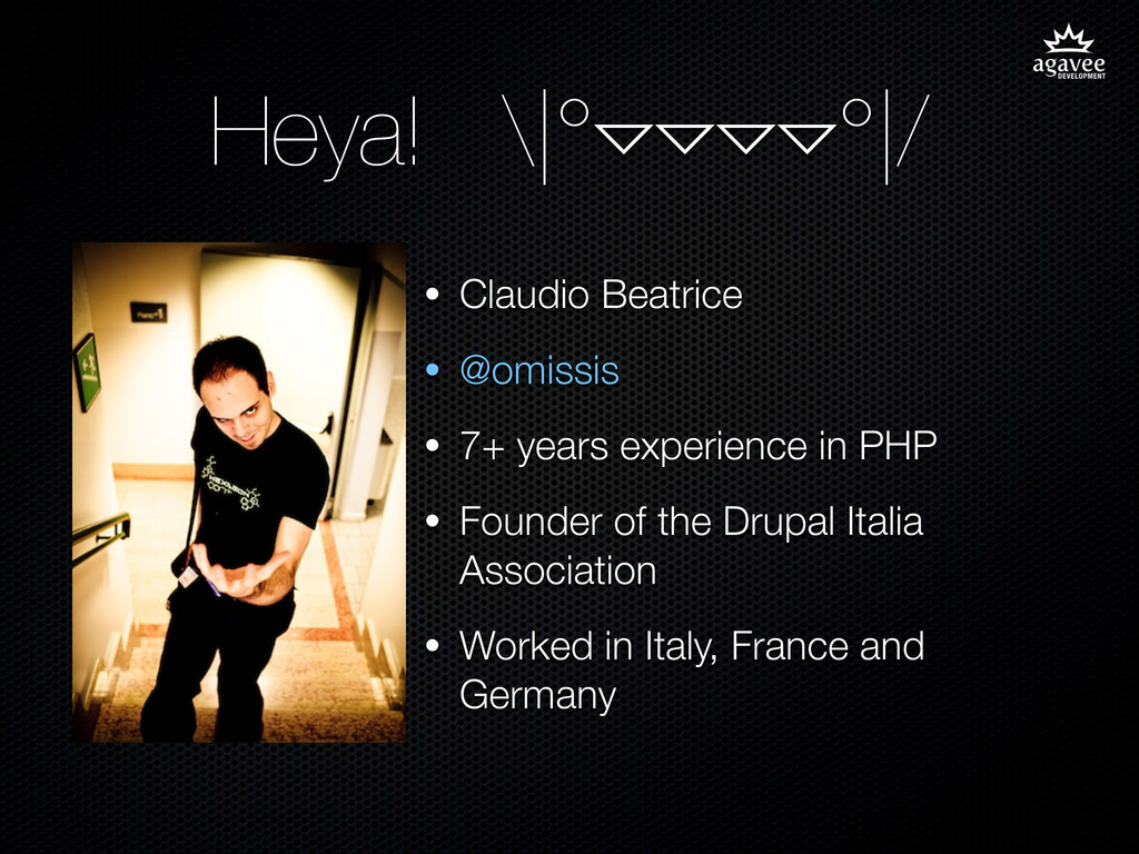 Heya! \|°▿▿▿▿°|/ • Claudio Beatrice • @omissis ...