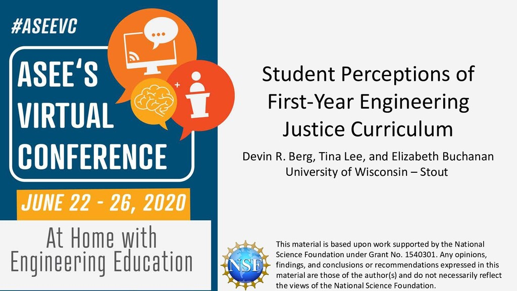 Student Perceptions of First-Year Engineering J...