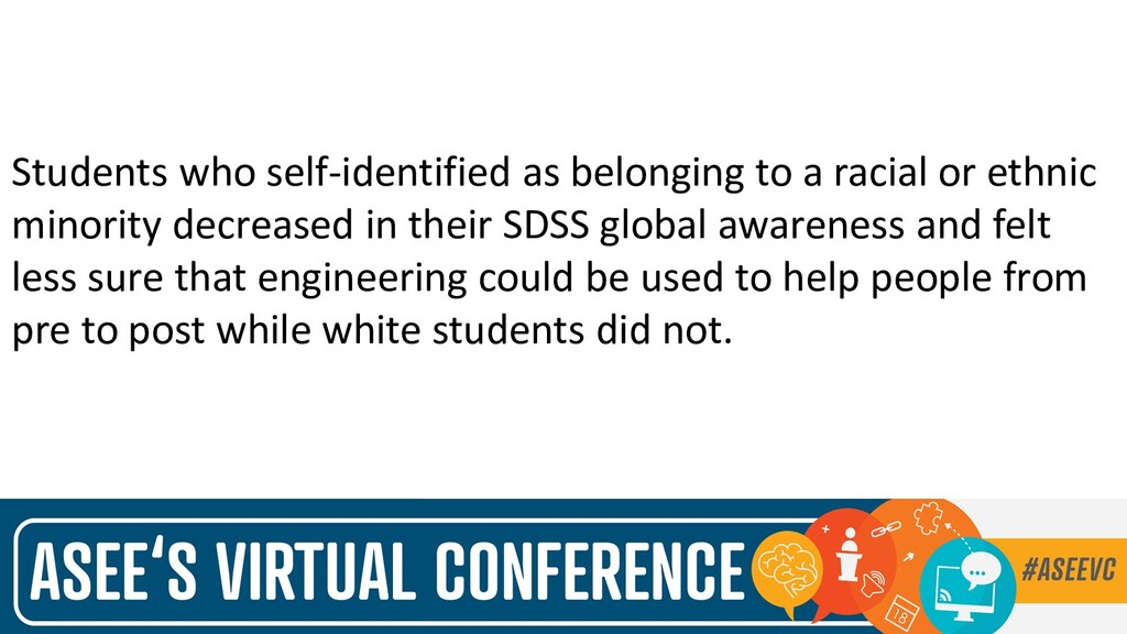 Students who self-identified as belonging to a ...