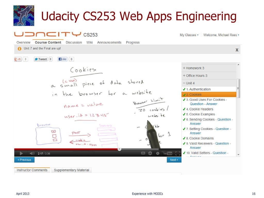 Udacity CS253 Web Apps Engineering April 2013 E...