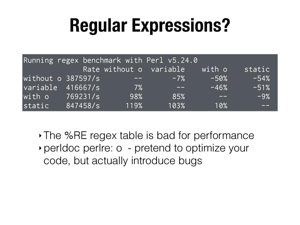 Regular Expressions? Running regex benchmark wi...