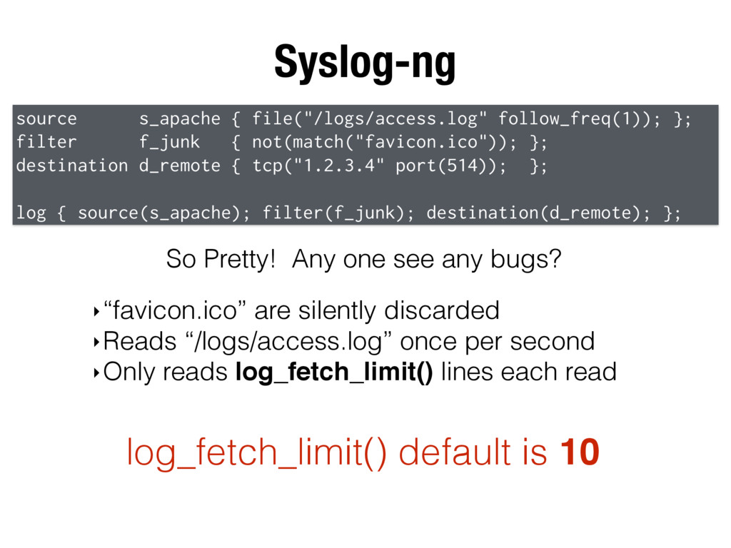 "Syslog-ng source s_apache { file(""/logs/access...."