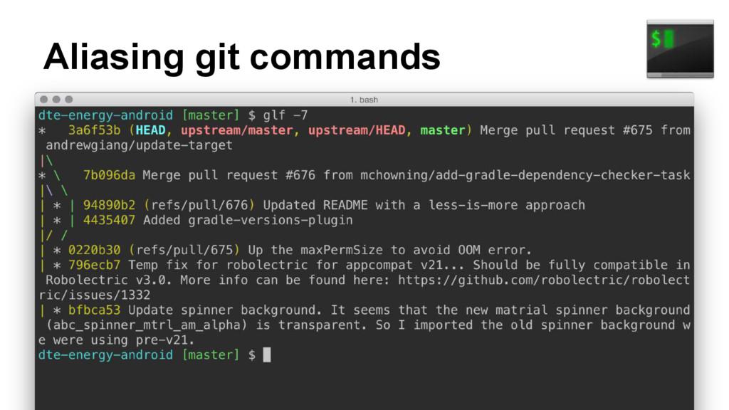 Aliasing git commands