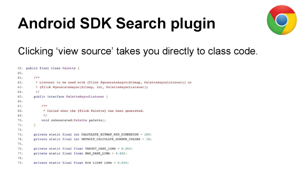 Android SDK Search plugin Clicking 'view source...