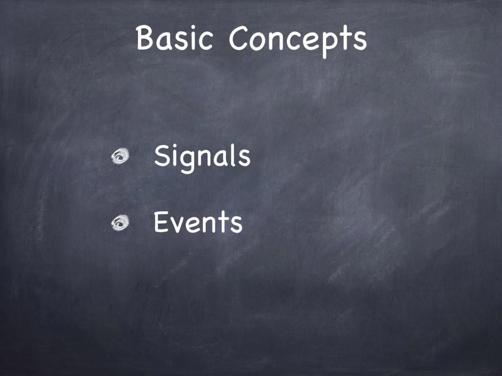 Basic Concepts Signals  Events