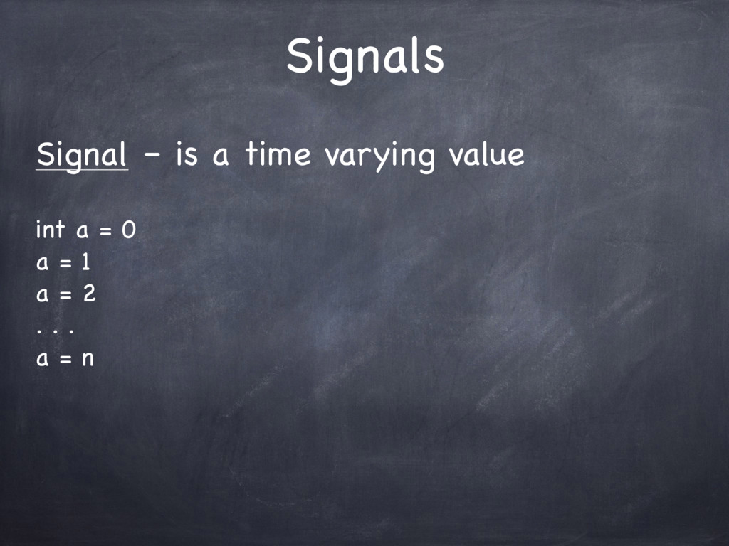 Signals Signal – is a time varying value int a ...